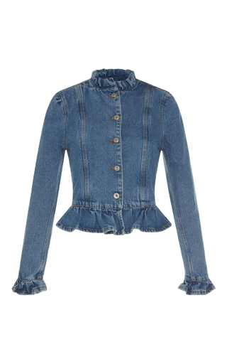 Medium j w anderson blue ruffle denim jacket