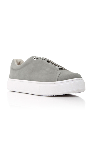 Medium eytys light grey doja lace up sneakers