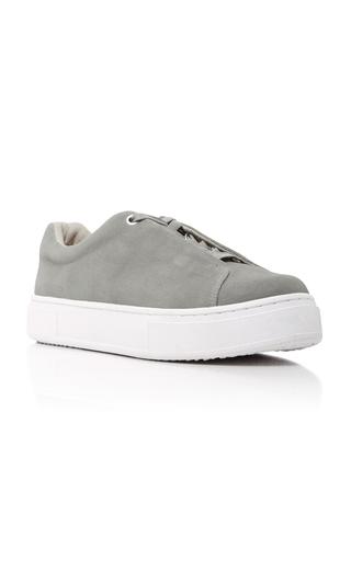 Medium eytys light grey doja lace up sneakers