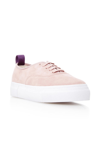 Medium eytys pink mother suede sneakers