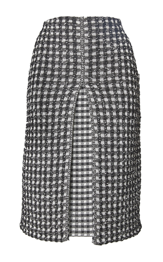 Medium sonia rykiel plaid vichy tweed pleated skirt
