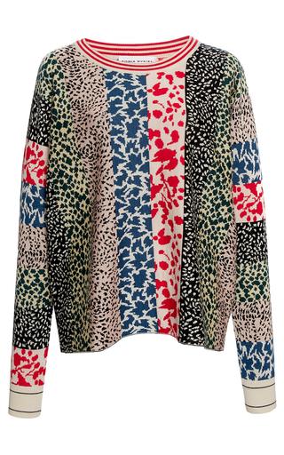Medium sonia rykiel multi cashsilk jacquard long sleeve sweater