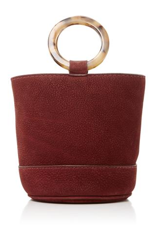 Medium simon miller burgundy suede bonsai bucket bag