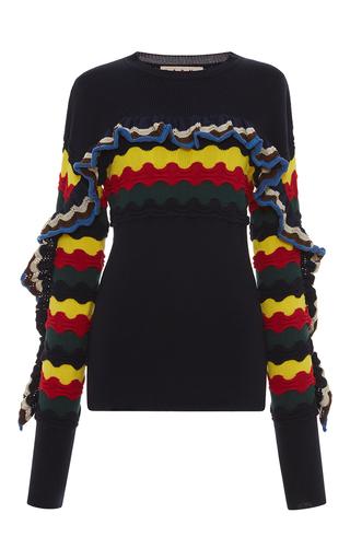 Medium marni multi multicolor ruffle sweater