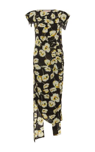 Medium marni floral cap sleeve floral dress