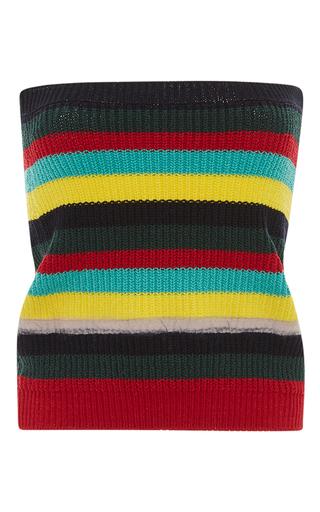 Medium marni stripe strapless striped knit top 2