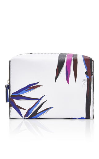 Medium emilio pucci white printed cosmetic case