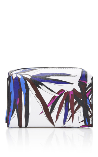 Medium emilio pucci white printed makeup bag