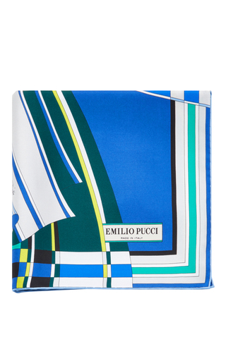 Medium emilio pucci blue printed scarf
