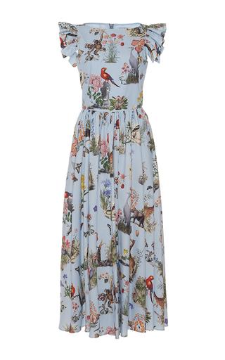 Medium vivetta print alligatore flutter sleeve dress