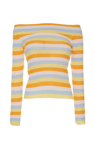 Medium vivetta stripe ippopotamo off the shoulder sweater
