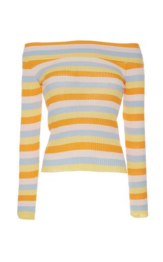 Medium vivetta stripe ippopotamo off the shoulder sweater