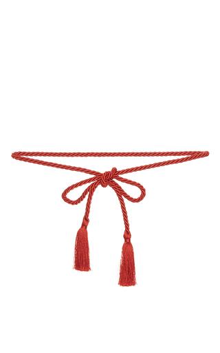 Medium vivetta red red aquila tassel belt