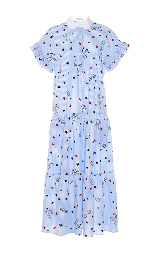 Medium vivetta print argonauta drop waist ruffle dress