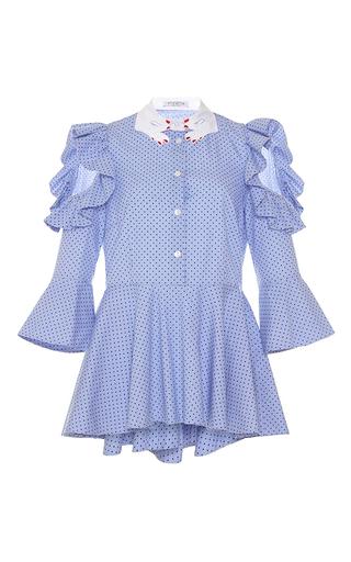 Medium vivetta light blue lumaca cold shoulder shirt
