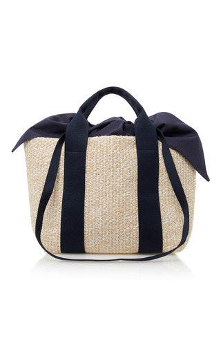 Medium muun tan yotto straw tote