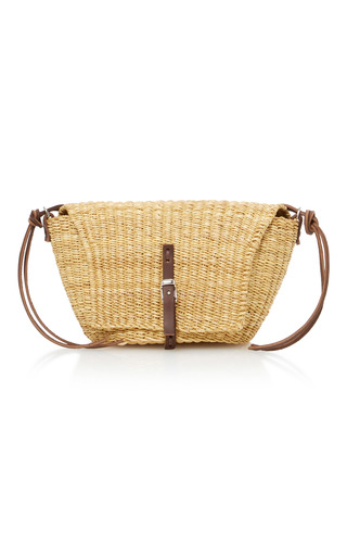 Medium muun tan jane straw shoulder bag