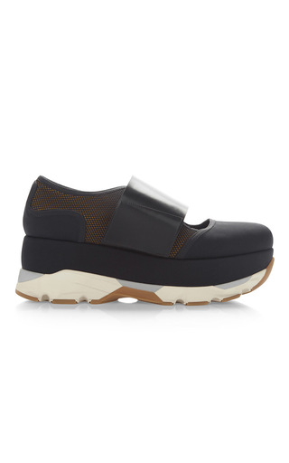 Medium marni black platform sneaker