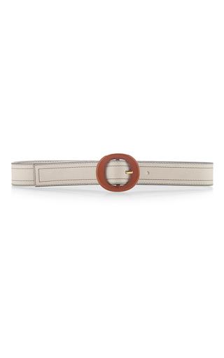 Medium marni white belt with circular buckle