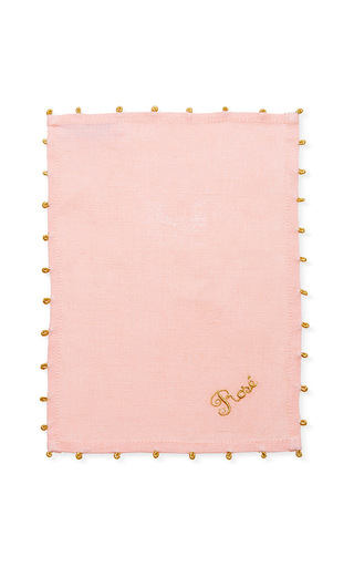 Medium julia b couture linens pink rose cocktail napkin set