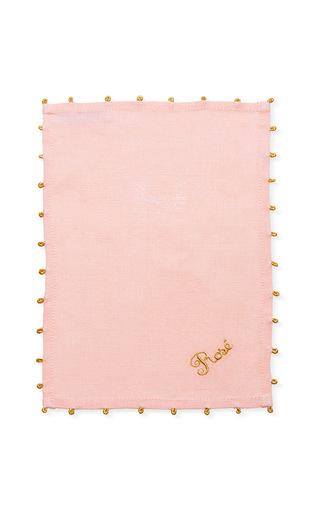 Medium julia b couture linens pink rose cocktail napkin set