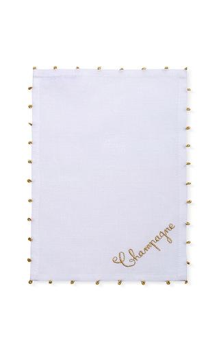 Medium julia b couture linens white champagne cocktail napkin set