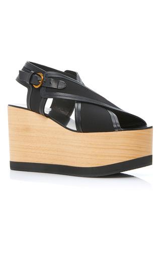 Medium isabel marant black zlova platform sandals