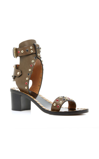 Medium isabel marant bronze jaeryn studded sandals