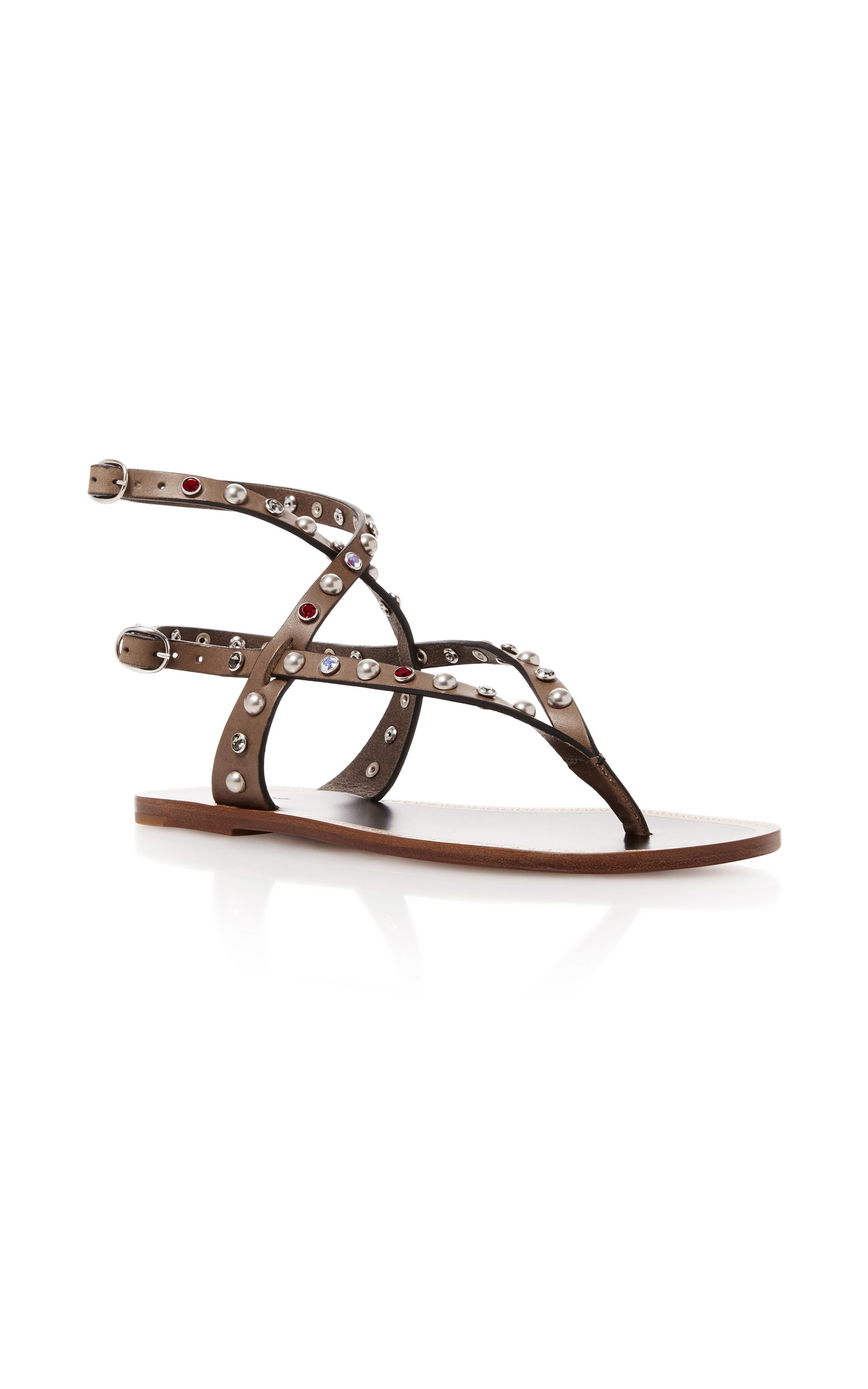 37aeb7f1727d Audrio Embellished Leather Sandals by Isabel Marant