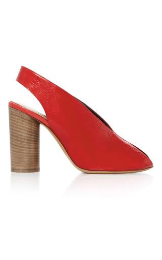 Medium isabel marant red meirid patent leather sandals