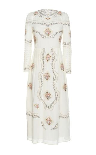Medium vilshenko white the sofia cotton lawn midi dress