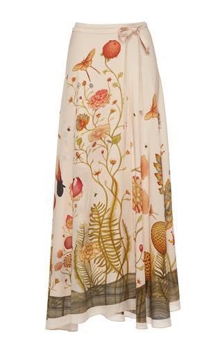 Medium vilshenko off white the scarlett light crepe wrap skirt