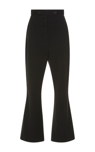 Medium proenza schouler black flared suiting trousers