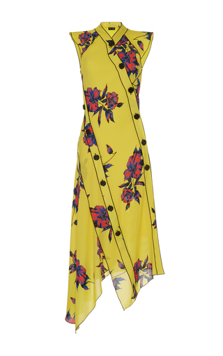Medium proenza schouler floral asymmetrical floral dress