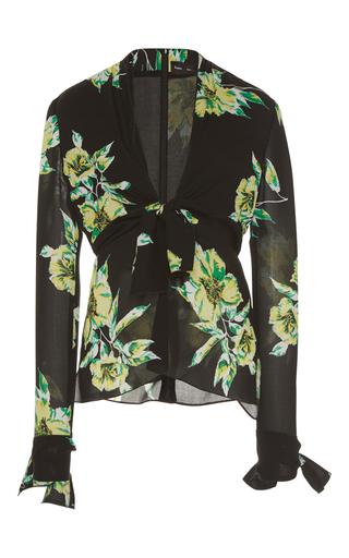 Medium proenza schouler floral front tie blouse