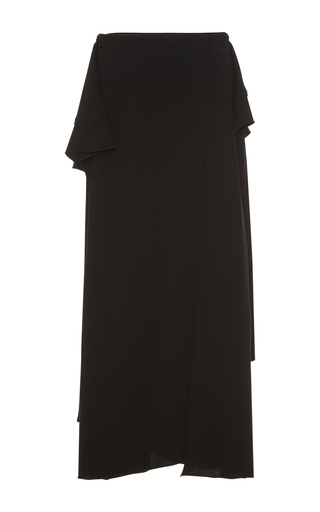 Medium proenza schouler black asymmetrical wrap skirt