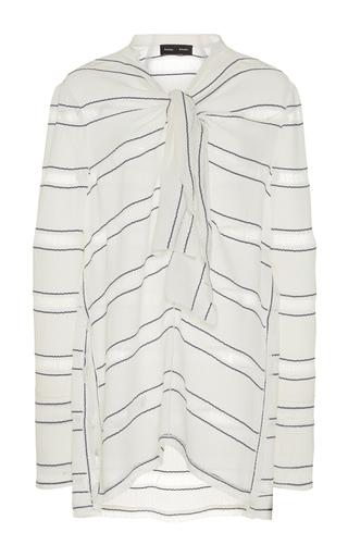 Medium proenza schouler stripe striped front tie top