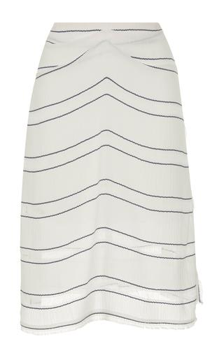 Medium proenza schouler stripe gathered striped skirt