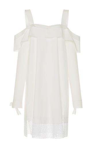 Medium proenza schouler white long sleeve off the shoulder dress