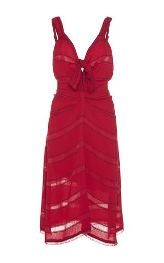 Medium proenza schouler red striped front tie dress