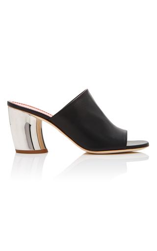 Medium proenza schouler black curved heel mule