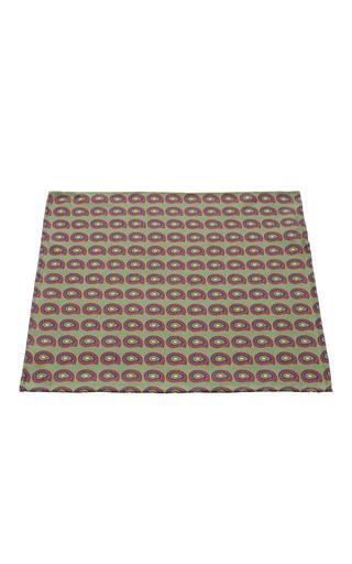 Medium artisanal milano green silk pocket square