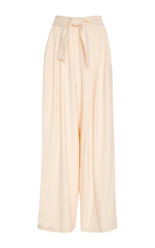 Medium tome light pink crepe wide leg pants
