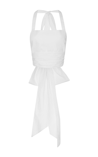 Medium tome white wrap halter top