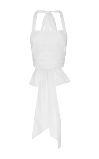 Medium tome white wrap halter top