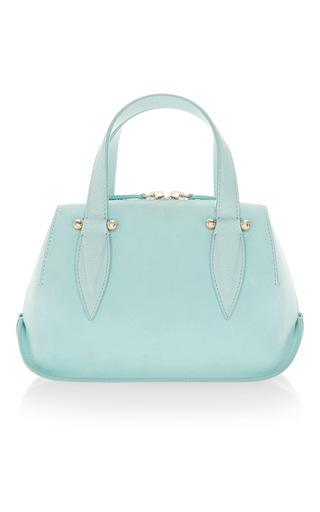 Medium delpozo blue mini bendetta top handle bag