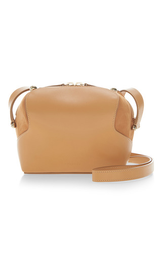 Medium delpozo tan leather camera bag