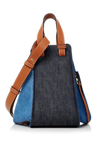 Medium loewe multi hammock small leather trimmed denim shoulder bag