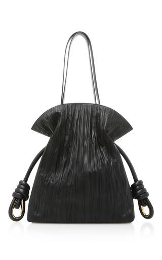 Medium loewe black flamenco knot leather shoulder bag 2