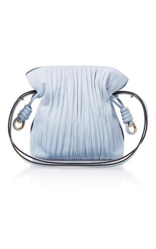 Medium loewe light blue flamenco knot leather shoulder bag